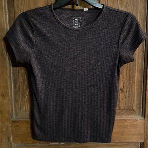 Me-to-We Purple & Black Ribbed Shirt